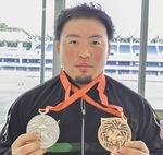 大学時代の銀・銅メダル