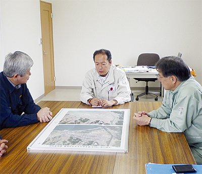 石阪市長 被災地へ
