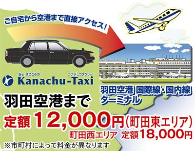 羽田空港まで 定額1万2000円〜