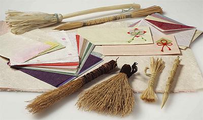 手すき和紙と藁筆展