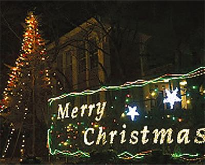 学内はクリスマス一色