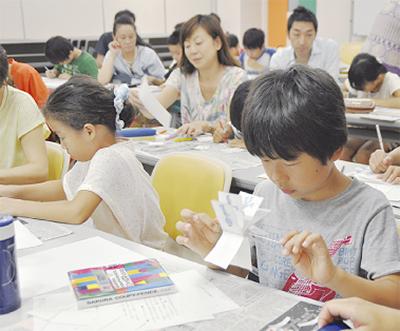 子ども講座で楽しい工作