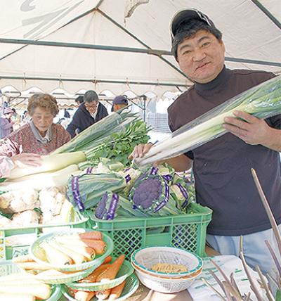 地場産野菜のお披露目