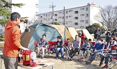 災害想定しキャンプ実施