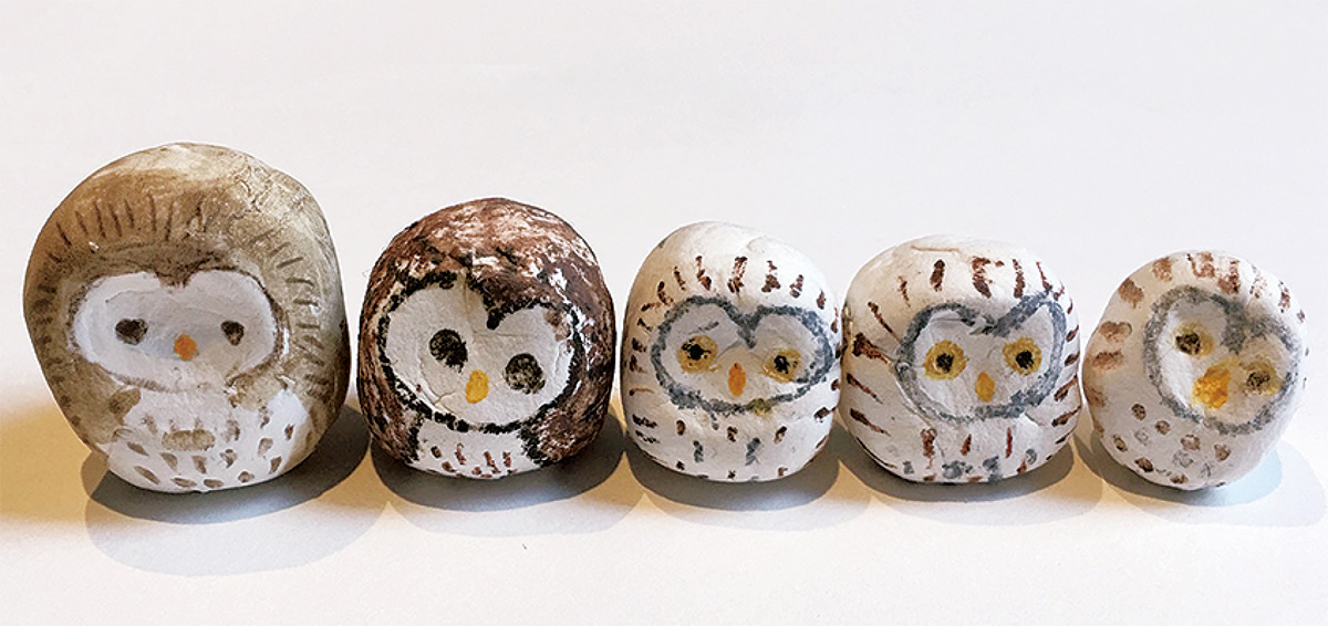 石粉粘土で作る動物