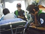 救急車での搬送の様子(八王子病院提供)