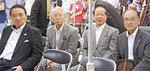 左から実行委員会会長の石井征二さん、副会長の大野彰さん、平野一男さん、佐藤久牧さん
