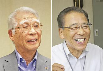 田辺会頭(左)と立川組合長