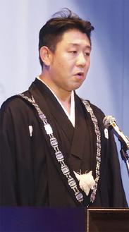 決意を語る山田理事長