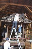 最古の山車「まつり」で展示