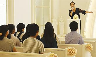 同大学・客員教授の有賀明美氏らが講師を務めた