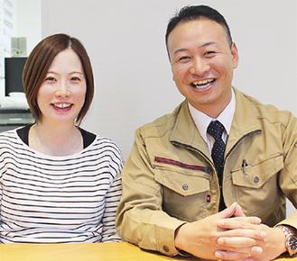 12月に出産を控える美香さん(左)と徹矢さん