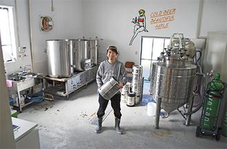 下恩方町にある池田さんの醸造所