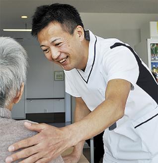 普段は看護師の埴原さん。地域包括ケア病床で業務にあたる