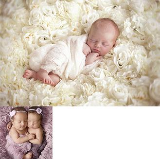いずれもソルベイグさんが撮影した新生児