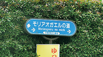 下恩方町にある標識