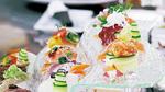 当日は「世界一」になった「創作寿司」の作品も再現した