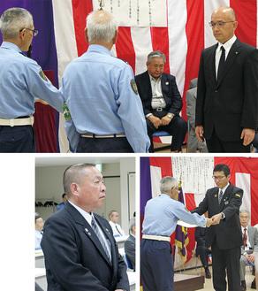 賞を受けた高山さんと半澤さん(右下)。左下が松岡さん