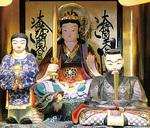 イラストのモデルとなった八王子七福神のひとつ、新護弁財天(中央)
