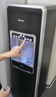 この春から導入した「翔栄学院めじろ台教室」。「やわらかくて美味しい水」と生徒からの評判は上々