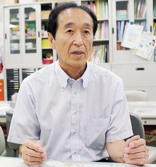 制度を目指すに至った経緯などを語る宮崎会長