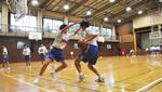 一中体育館での練習の様子
