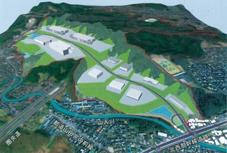 事業完了のイメージ=川口土地区画整理組合提供