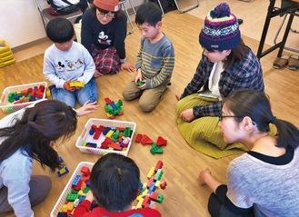 アドラー心理学を応用した親子ブロック教室の様子(対面時)