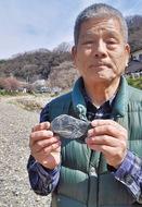 小仏川に古生代の化石か