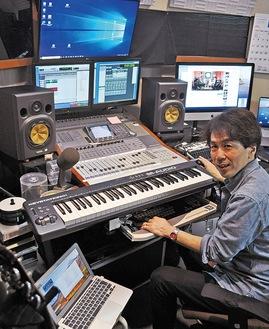 「スタジオなので、とてもいい音質で配信が可能です」と担当の盛田誠さん