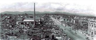 八王子空襲後の市街地写真。1945年10月、斉藤五郎氏撮影。八王子市郷土資料館蔵