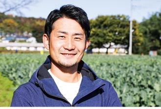 「農業男子」の河井さん。川口町の畑にて