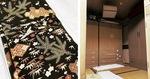 新制作座の「着物部屋」(右)と所有する着物=提供写真