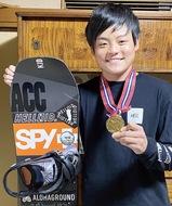 スノボ 15歳田尻さん、プロに