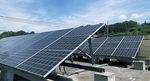 宇津木町にある同法人の保育園に設置されている太陽光パネル