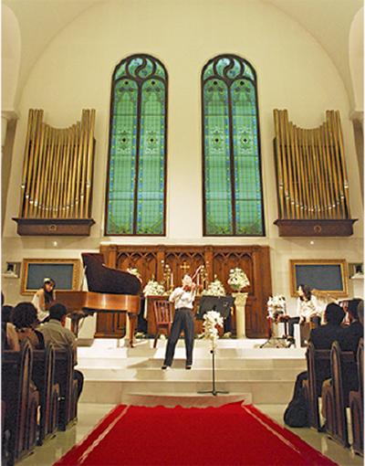 多摩の奏者教会で共演