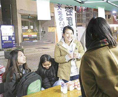 市内企業と留学生が交流