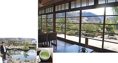 昭和の家屋がある庭園