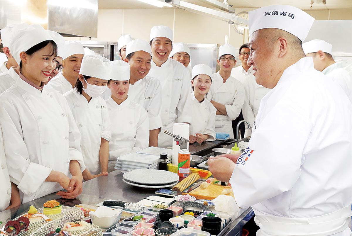 世界チャンプが寿司授業