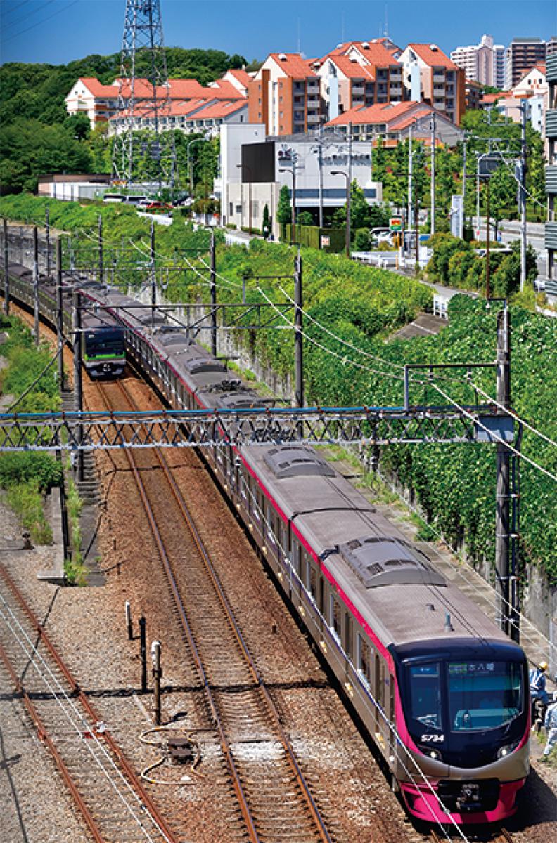京王電車大判で展示