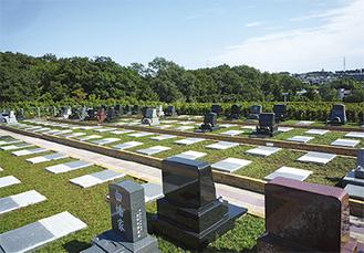 駅近ながら緑豊かな自然が特長の「川崎清風霊園」