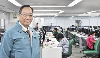「日本一の工事測量会社にしていきたい」と高城代表取締役