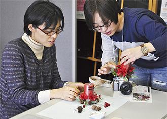 恵泉女学園大の学生が制作指導