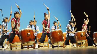 永山ハイツ祭り太鼓・鼓魂による演舞