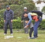 親子でターゲットバードゴルフを体験
