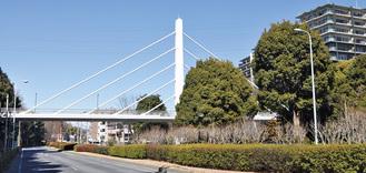 橋を見て、歩いて、楽しむ=写真はさんかく橋