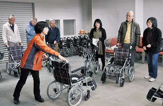 車椅子の扱い方が説明された