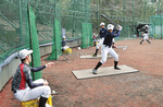 永山で練習する選手たち