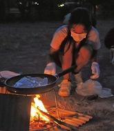学校でソロキャンプに挑戦