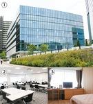 【1】多摩センター近くにあるリンクフォレスト【2】研修スペース【3】一般利用も可能な宿泊スペース